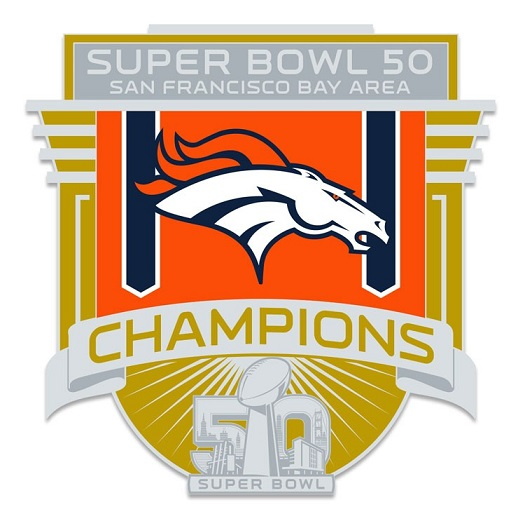 Broncos Super Bowl 50 Champs Banner Pin